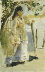 Woman by a Fence 1866