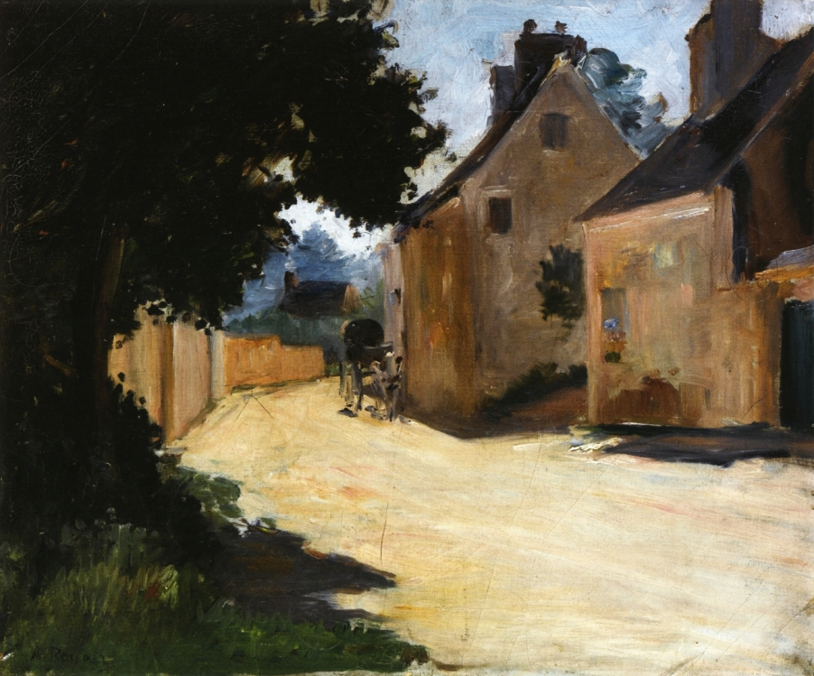 Village street Louveciennes 1872