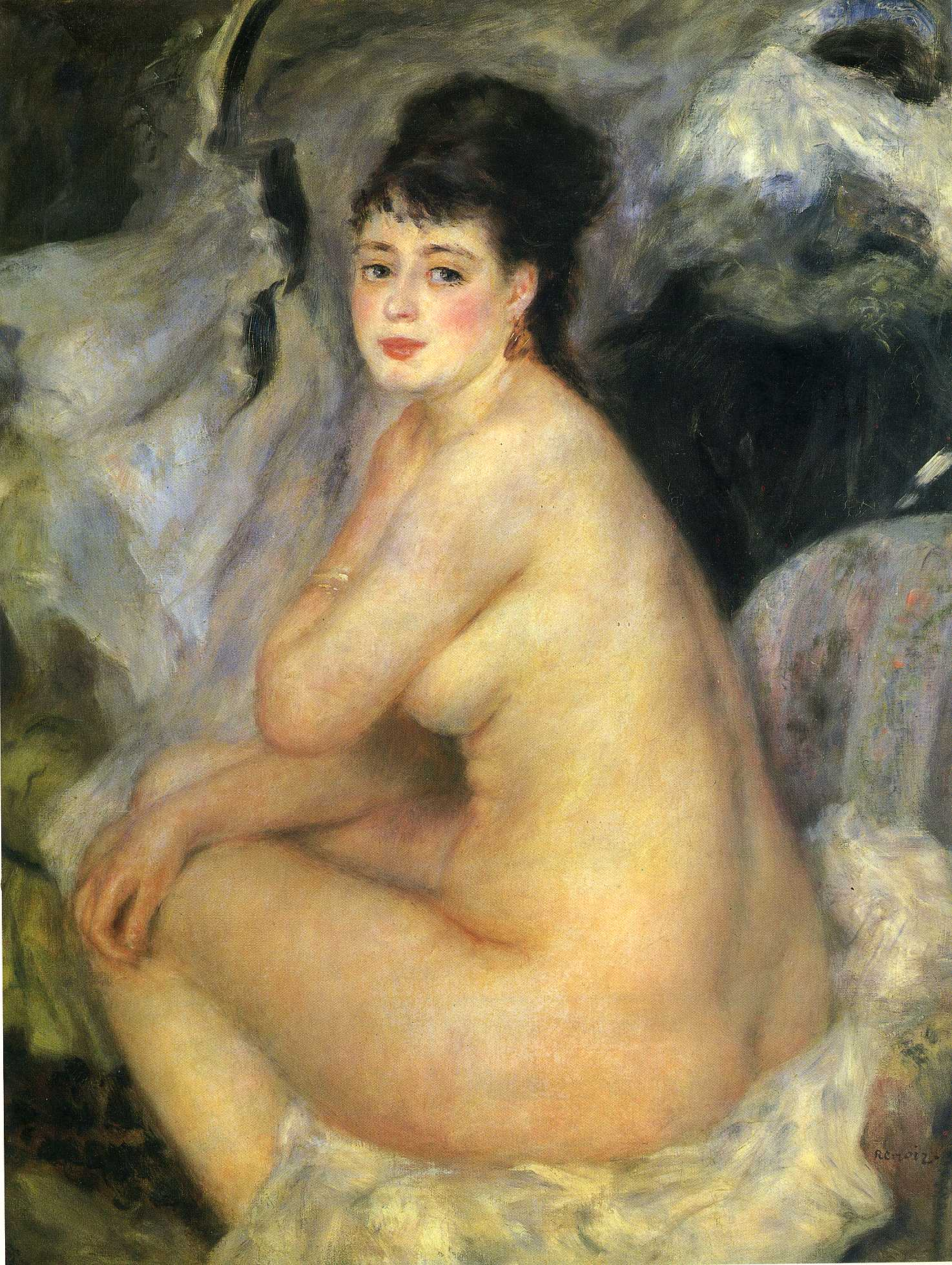 Nude seated on a sofa 1876