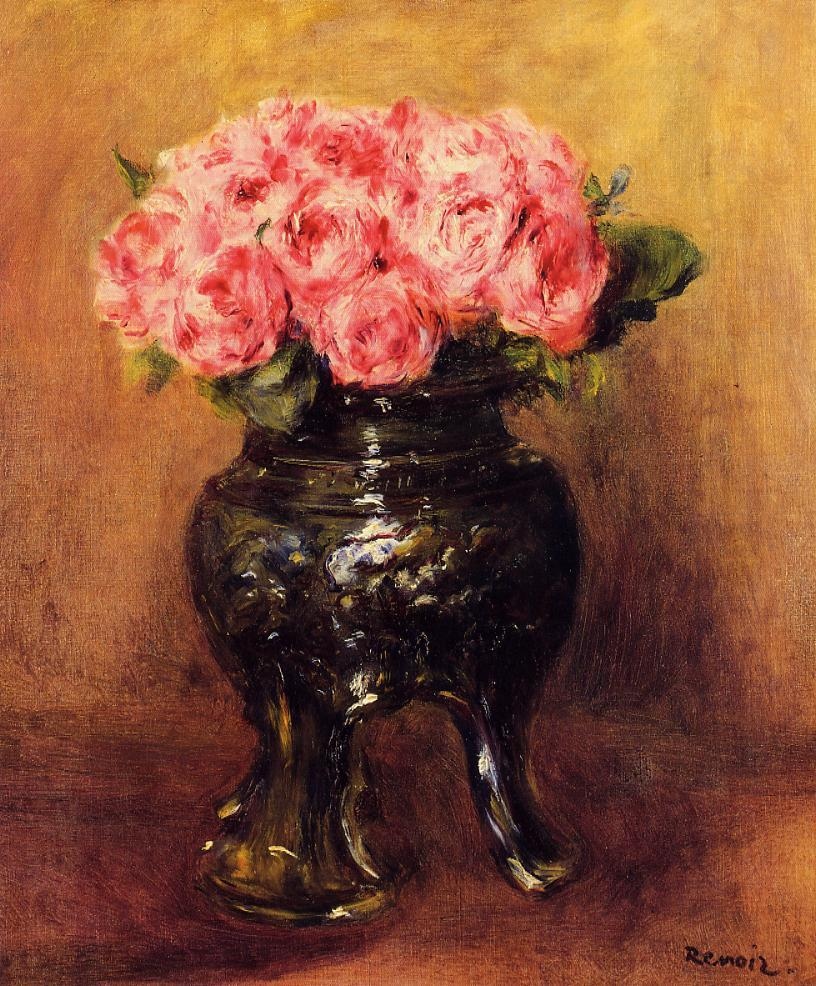 Roses in a china vase 1876