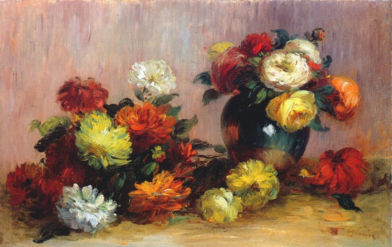 Bouquets of flowers 1880
