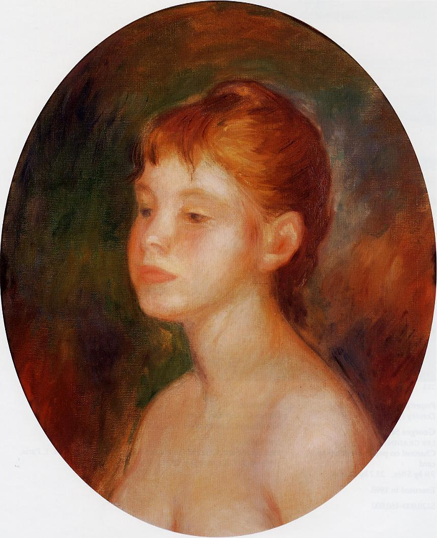 Study of a young girl, mademoiselle Murer 1882