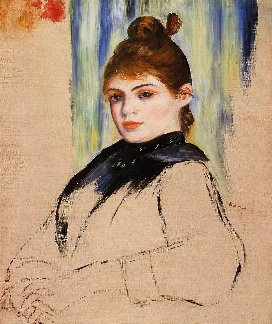 Young woman with a bun in her hair 1882