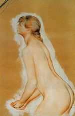 Nude study for the Large bathers 1887