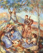 The grape pickers at lunch 1888