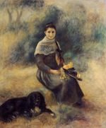 Young girl with a dog 1888