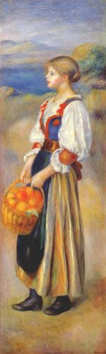 Girl with a basket of oranges 1889