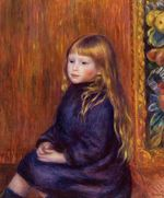 Seated child in a blue dress 1889