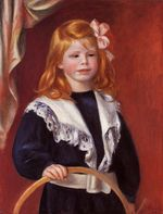 Portrait of Jean Renoir. Child with a hoop 1898