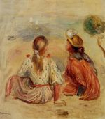 Young girls on the beach 1898