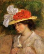Woman in a flowered hat 1899