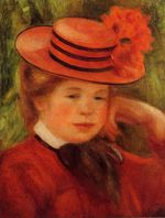 Young girl in a red hat 1899