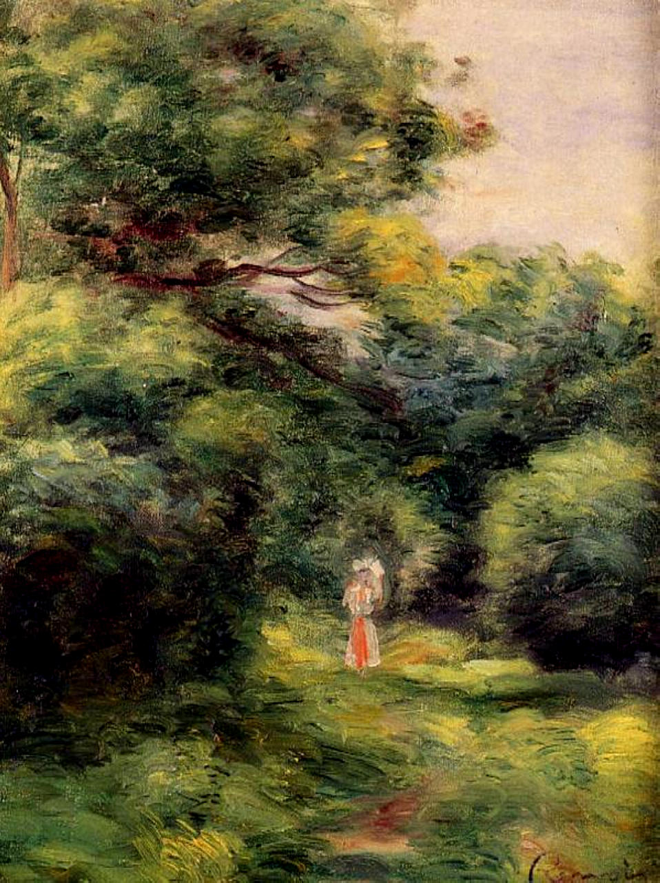 Lane in the woods 1900