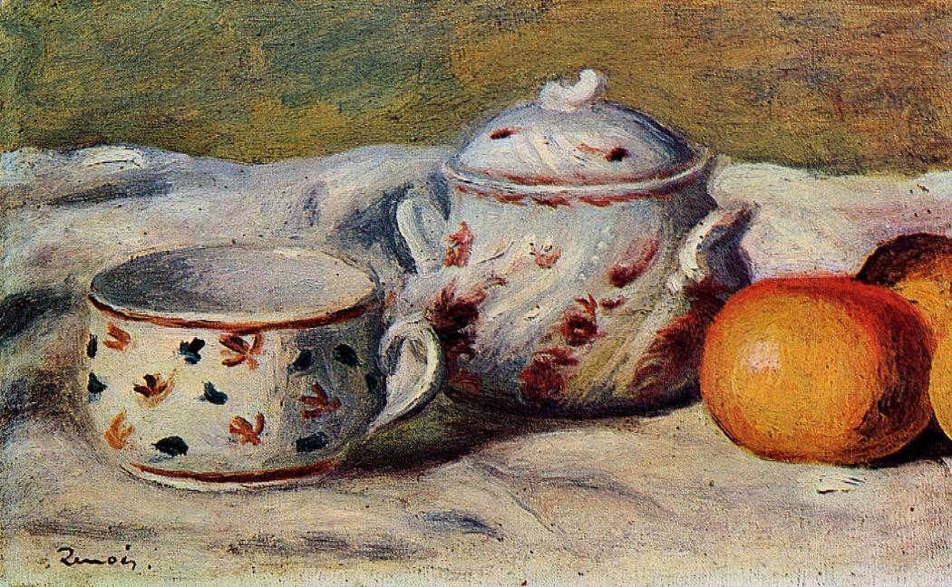 Still life with cup and sugar bowl 1904