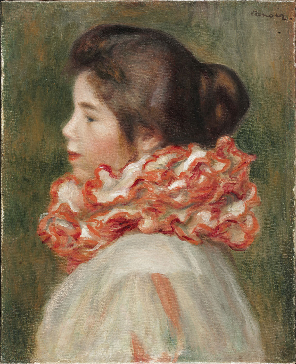 Girl in a Red Ruff. Gabrielle 1896