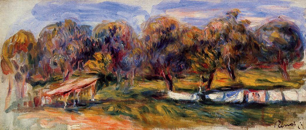 Landscape with orchard 1910