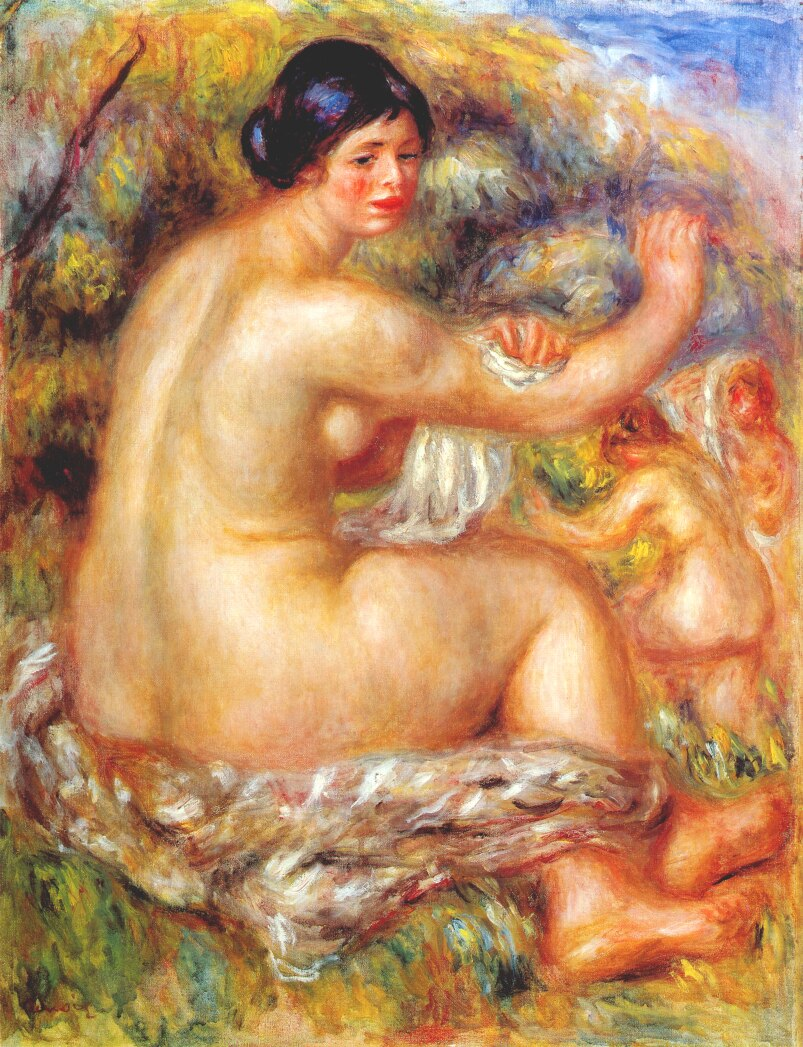 After the bath 1912