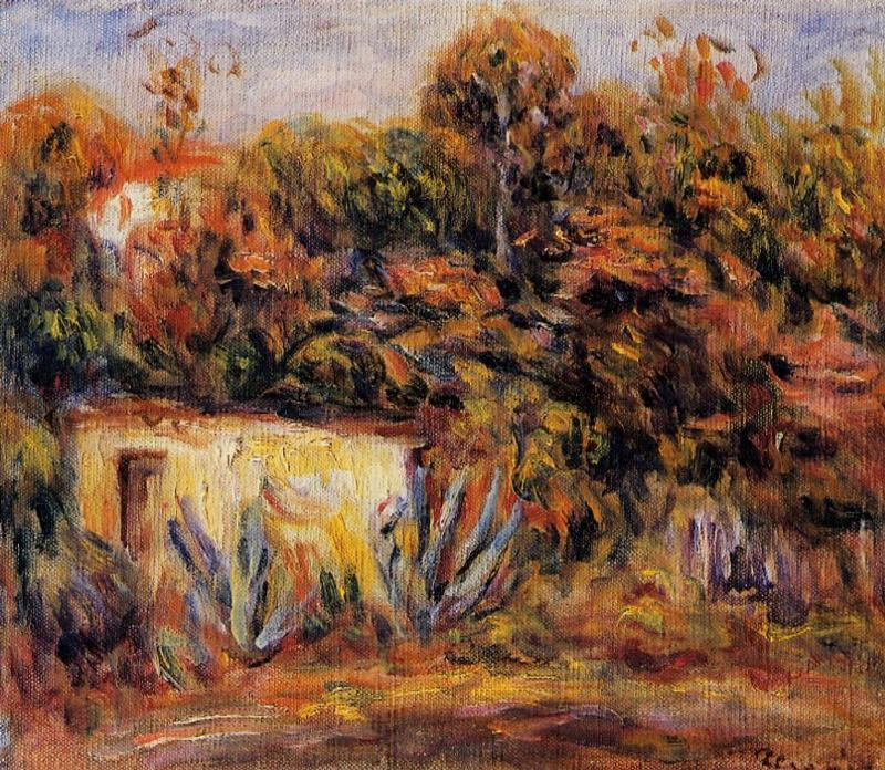 Cabin with aloe plants 1913