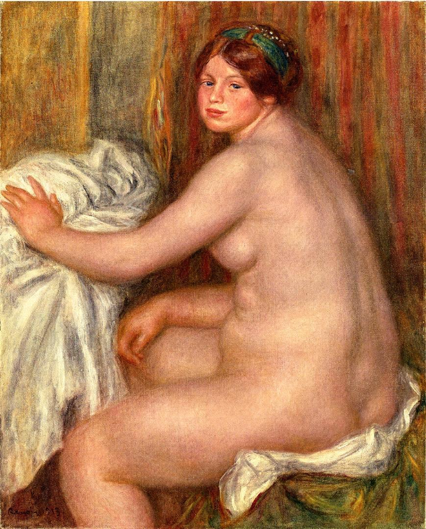 Seated bather 1913
