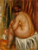 After bathing nude study 1910
