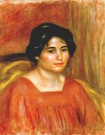 Gabrielle in a red blouse 1910