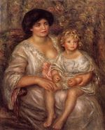 Madame Thurneyssan and her daughter 1910