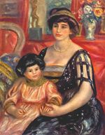 Portrait of madame Duberville with her son Henri 1910