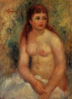Seated young woman nude 1910