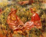 Two women in the grass 1910
