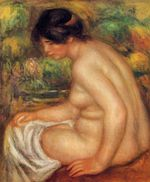 Seated nude in profile Gabrielle 1913