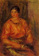 Woman in a red blouse 1914