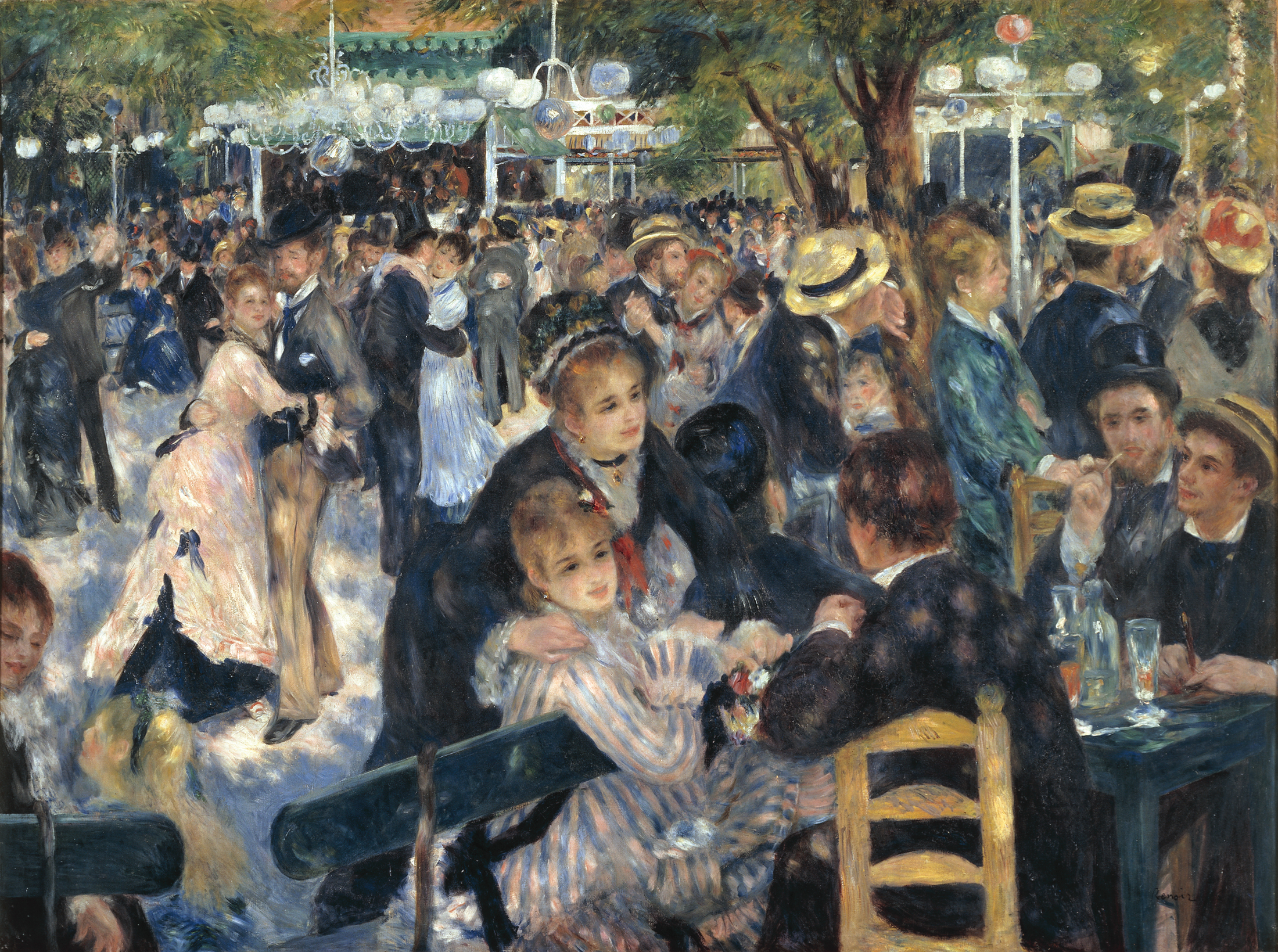 1876 Dance at Moulin de la Galette